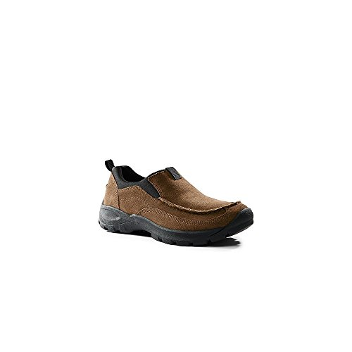 Lands' End School Uniform Mens All Weather Moc Shoes, 10, Burnt (Classic Moc Slip)
