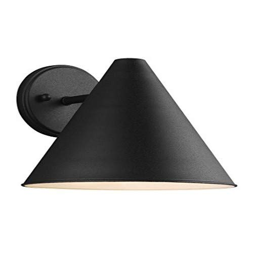 Sea Gull Lighting 8538501-12 Crittenden One Light Outdoor Wall Lantern, Black from Sea Gull Lighting
