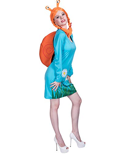 Snail Costume - Women Adult Carnival Halloween Fancy Blue Insect Snail Costumes ()
