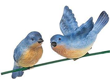 Sullivans Assorted Set of 2 Blue Bird Clip-On (Clip On Bird Ornaments)