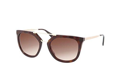 Prada 2AU6S1 Tortoise/Gold 13QS Pilot Sunglasses Lens Category 3 Size 54mm ()