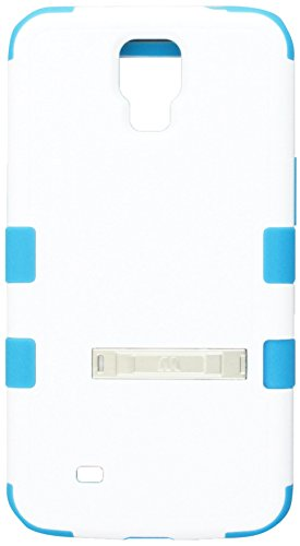 one Protector Cover with Metal Kickstand for Samsung i527 Galaxy Mega - Retail Packaging - Ivory White/Tropical Teal ()