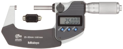 mitutoyo-293-235-coolant-proof-lcd-micrometer-ratchet-thimble-25-50mm-range-0001mm-graduation-0001mm