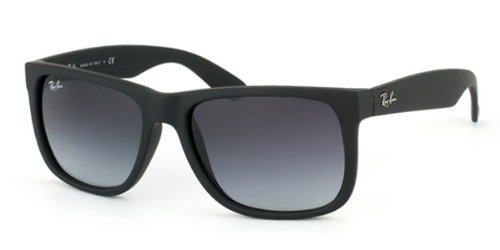 7fea729b66 Ray-Ban Justin RB4165 601 8G Black Grey Gradient  Amazon.co.uk  Clothing