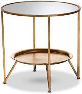 Baxton Studio End Tables, One Size, Antique Gold