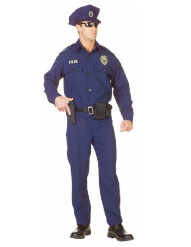 Underwraps Men's Plus-Size Officer -Plus, Blue/Black, XX-Large ()