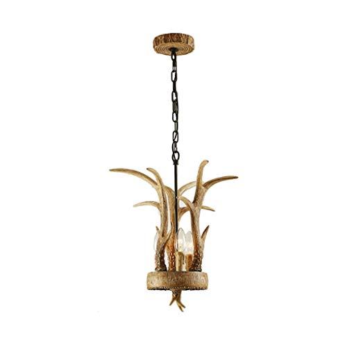 Flashing God Vintage Pendant Light Restaurant Kitchen Island Lamp Faux Resin Antler Decor Chandelier Lighting Farmhouse Mini Ceiling -
