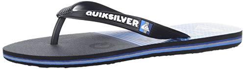 Quiksilver Boys' Molokai Word Block Youth Sandal, Black/Blue
