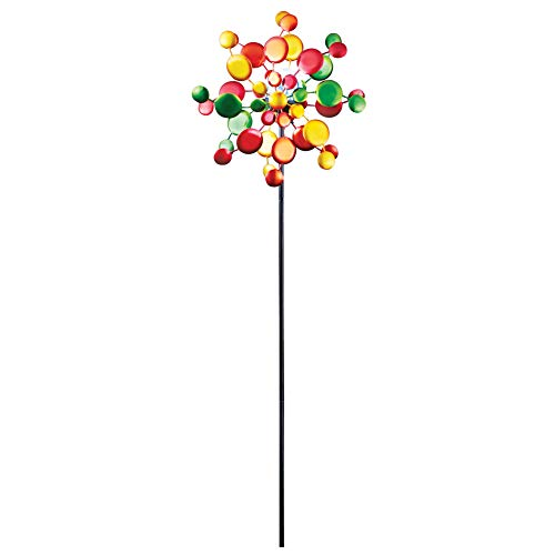 Collections Etc Solar Light up Kaleidoscope Wind Spinner Outdoor Decoration for Yard, Lawn, Garden by Collections Etc