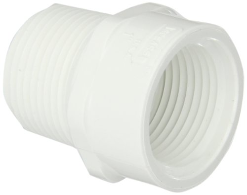 """Spears 434 Series PVC Pipe Fitting, Riser Extension Adapter, Schedule 40, 1"""" NPT Female"""
