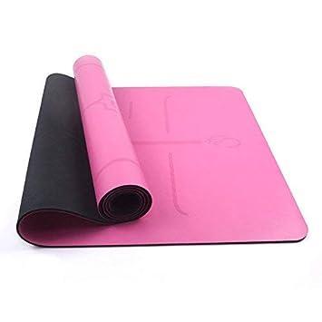 Amazon.com: YQSMYSW Pink Fiber 5mm Yoga mat Eco-Friendly ...