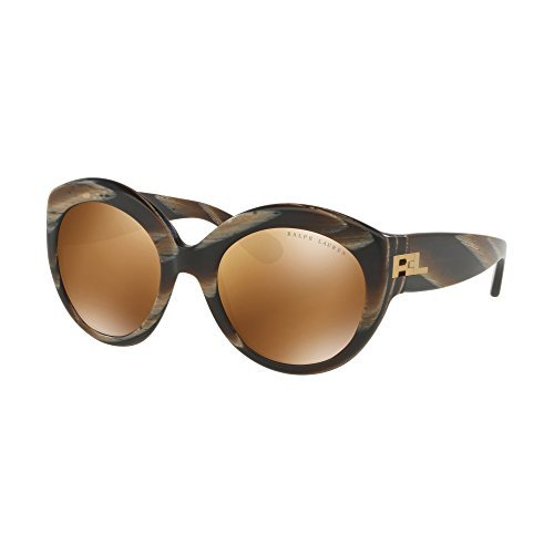 Ralph Lauren 0Rl8159, Gafas de Sol para Mujer, Brown Horn Vintage Effect, 53