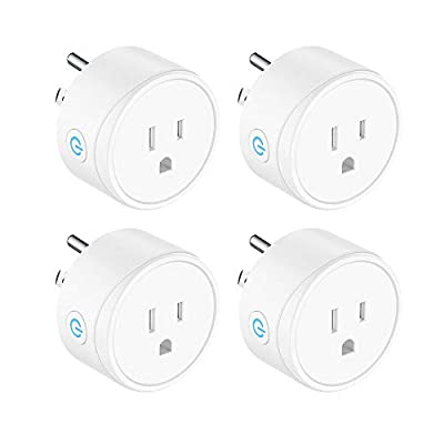Mini Smart Plug Compatible with Alexa, Google Assistant and IFTTT, Remote Control Your Devices from Anywhere No Hub Required Rohs and FCC Listed WiFi Enabled Remote Control Smart Socket