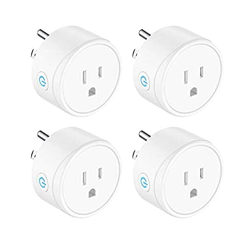 Mini Smart Plug Compatible with Alexa, Google Assistant and IFTTT, Remote Control Your Devices from Anywhere No Hub Required Rohs and FCC Listed WiFi Enabled Remote Control Smart Socket 4 Pack - 31H53wC7LdL - Mini Smart Plug Compatible with Alexa, Google Assistant and IFTTT, Remote Control Your Devices from Anywhere No Hub Required Rohs and FCC Listed WiFi Enabled Remote Control Smart Socket 4 Pack