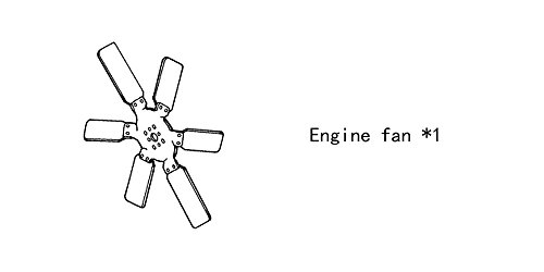Engine fan 4931801 for diesel engine: