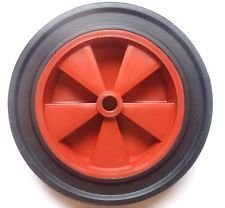 12 SLIM wheelbarrow solid wheel RED /replacement for 14pneumatic NO MORE PUNCTURES (MADE IN UK) by Keto Plastics