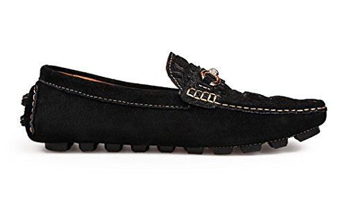 Loafers Black Slip Penny Leather Fashion Mens Manual New Shoes Mocccasin Dress Driving TDA Business On qBwfTn1