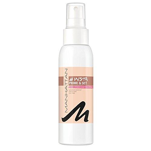 Manhattan Insta Prime & Set Spray, Make-up Setting-Spray, auch als Primer verwendbar, Farbe Clear 100, 1 x 100ml