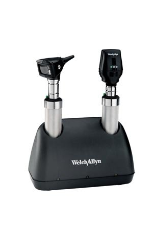 Welch Allyn 71641-M Desk Set with Coaxial Ophthalmoscope, Macro View Otoscope and (Coaxial Ophthalmoscope Otoscope)