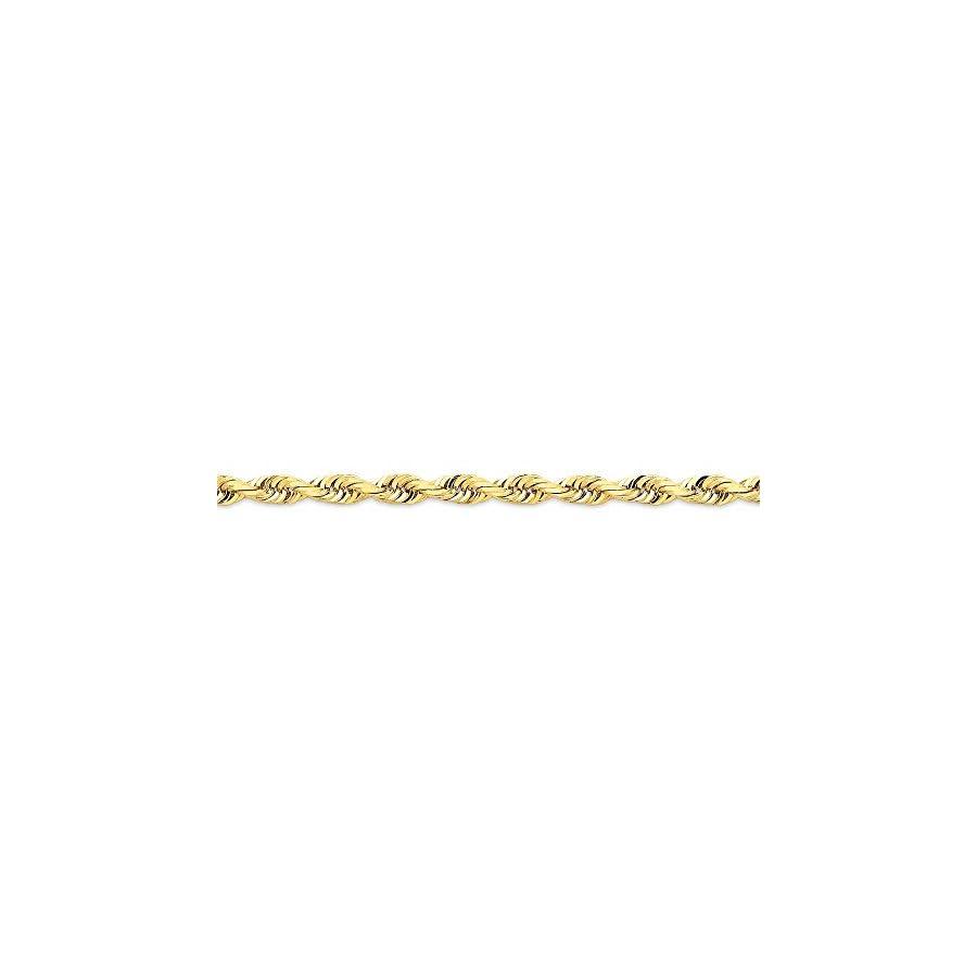 14k Gold 6.0mm D/C Quadruple Rope Chain Bracelet 8 Inches