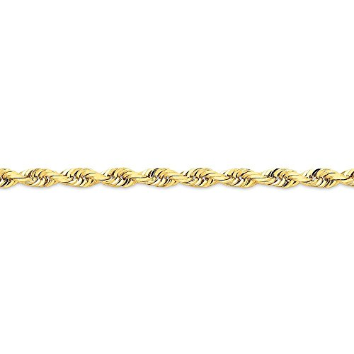 14k Gold 6.0mm D/C Quadruple Rope Chain Bracelet 8 Inches