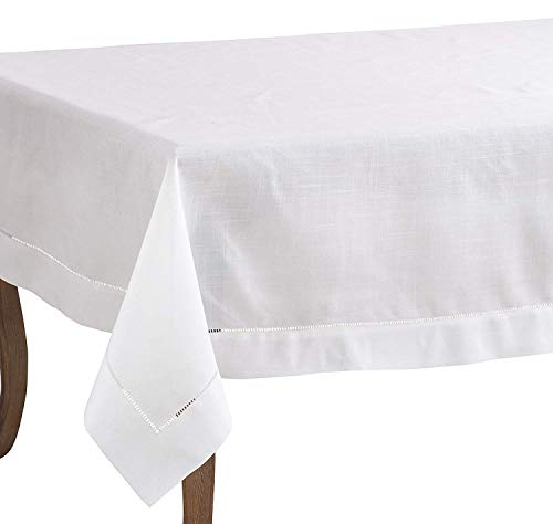 Fennco Styles Classic Hemstitched Border Tablecloth (70