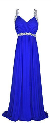 conail Coco Women's Elegant Royal Formal Dresses Wear Long Wedding Party Gowns (XLarge, - Beaded Prom Dress Ruched