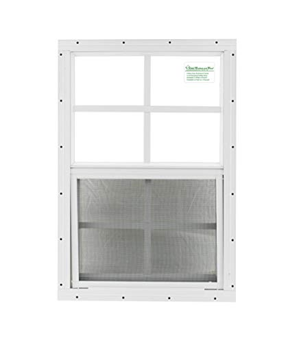 Cheap Shed Windows 14″ X 21″ White Flush Mount, Playhouse Windows, Chicken Coop Windows