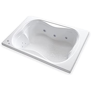 Carver Tubs   TMS7248 Rectangle Drop In   12 Jet, Self Draining Whirlpool  Bathtub With