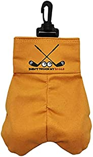 Golf Ball Storage Bag, Portable Golf Ball Carrier Pocket Holder Bag, DONT TOUCH MY BALL Funny Clasp Snap Prank