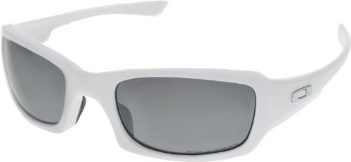 Oakley Fives Squared Sunglasses Polished Black / Black Iridium Polarized & Carekit - Five Oakley Polarized Squared