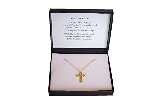 Jesus Freak Costume (Jesus is the Answer - Faithful Jesus Gold-plated Chain and Cross (1IN))
