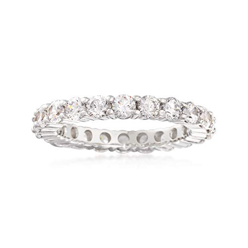 Ross-Simons 2.20 ct. t.w. CZ Eternity Band in Sterling -