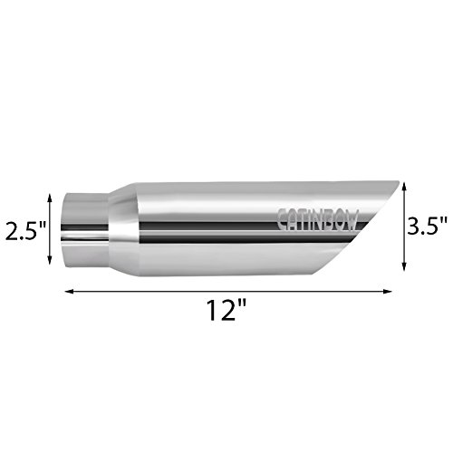Catinbow Polished 304 Stainless Steel Exhaust Tip 2.5