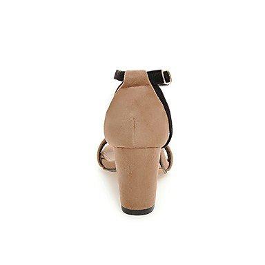 LvYuan Mujer Sandalias Tira en el Tobillo Semicuero Verano Casual Vestido Tira en el Tobillo Negro Marrón Claro 7'5 - 9'5 cms light brown