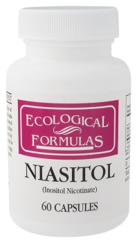 Recherche Cardiovasculaire - Niasitol (B3/Inositol), 400 mg, 60 capsules