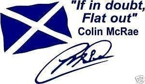 Verde Online Design Colin McRae If IN Doubt Flat out Pegatina Bandera
