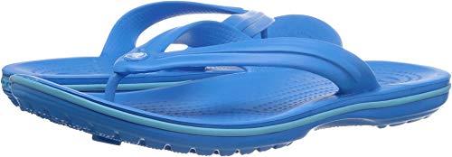 crocs Unisex Crocband Flip Flop,  Ocean/Electric Blue, 5 US