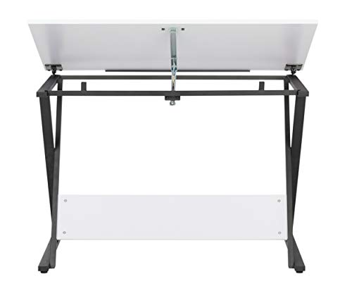 SD Studio Designs Studio Designs 13353 Axiom Modern Art, Drawing, Crafting, Drafting, 42-Inch Wide MDF Adjustable Angle Top Table in Charcoal/White, W x 24'' D x 30'' H by SD STUDIO DESIGNS (Image #3)