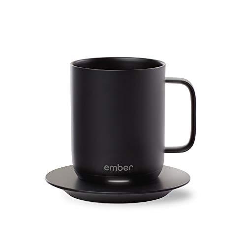 Ember Temperature Control Smart Mug, 10 oz, 1-hr Battery Life, Black - App Controlled Heated Coffee Mug