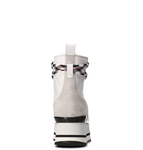 Hogan Femme GYW3280J710C7H0ZP0 Blanc Cuir Bottines KoMBpPf8