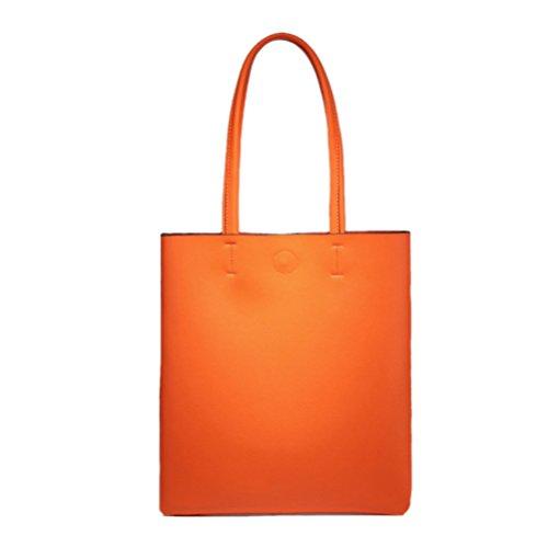 Col À Yxiaol Et Femme Blanc Nouveau Cuir Bandoulière Orange Sac Simple Étudiant Polyvalent Main En 7qx7rEvw