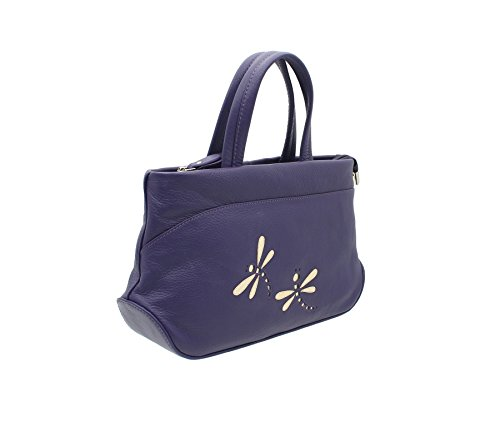 Purple Azure Soft Strap With Grab Bag Shoulder 81 Mala Leather Collection 783 RBTqwnPZ