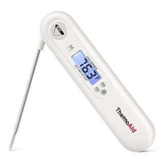 ThermoAid Meat Thermometer Instant Read Backlit Thermometer with Magnet for Kitchen, Food Cooking, Deep Fry and Grill