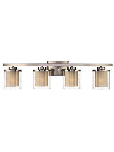- Dolan Designs 3954-09 4Lt Bath Satin Nickel Horizon 4 Light Bathroom Fixture,