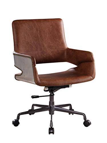 ACME Kamau Office Chair – – Vintage Cocoa Top Grain Leather