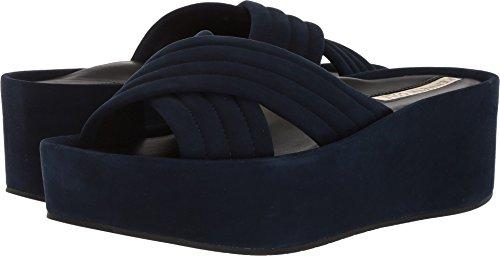 Kenneth Suede Cole Sandals (Kenneth Cole New York Women's Damariss Platform X-Band Slip Slide Sandal, Marine, 10 M US)