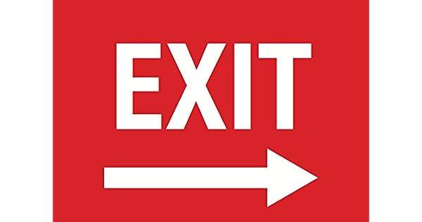 Amazon.com: EXIT Flecha derecha rojo signo – Puerta ...