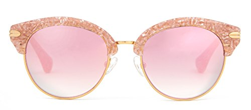 Sonix Women's Bellevue Sunglasses, Candy Pink/Rose Mirror, One - Bellevue Sunglasses