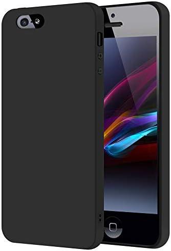 SDTEK Case For iPhone SE (Black) Slim Matte Cover Premium Matte Soft Case [Silicone TPU] iPhone SE (2016-2019) / iPhone 5s / 5